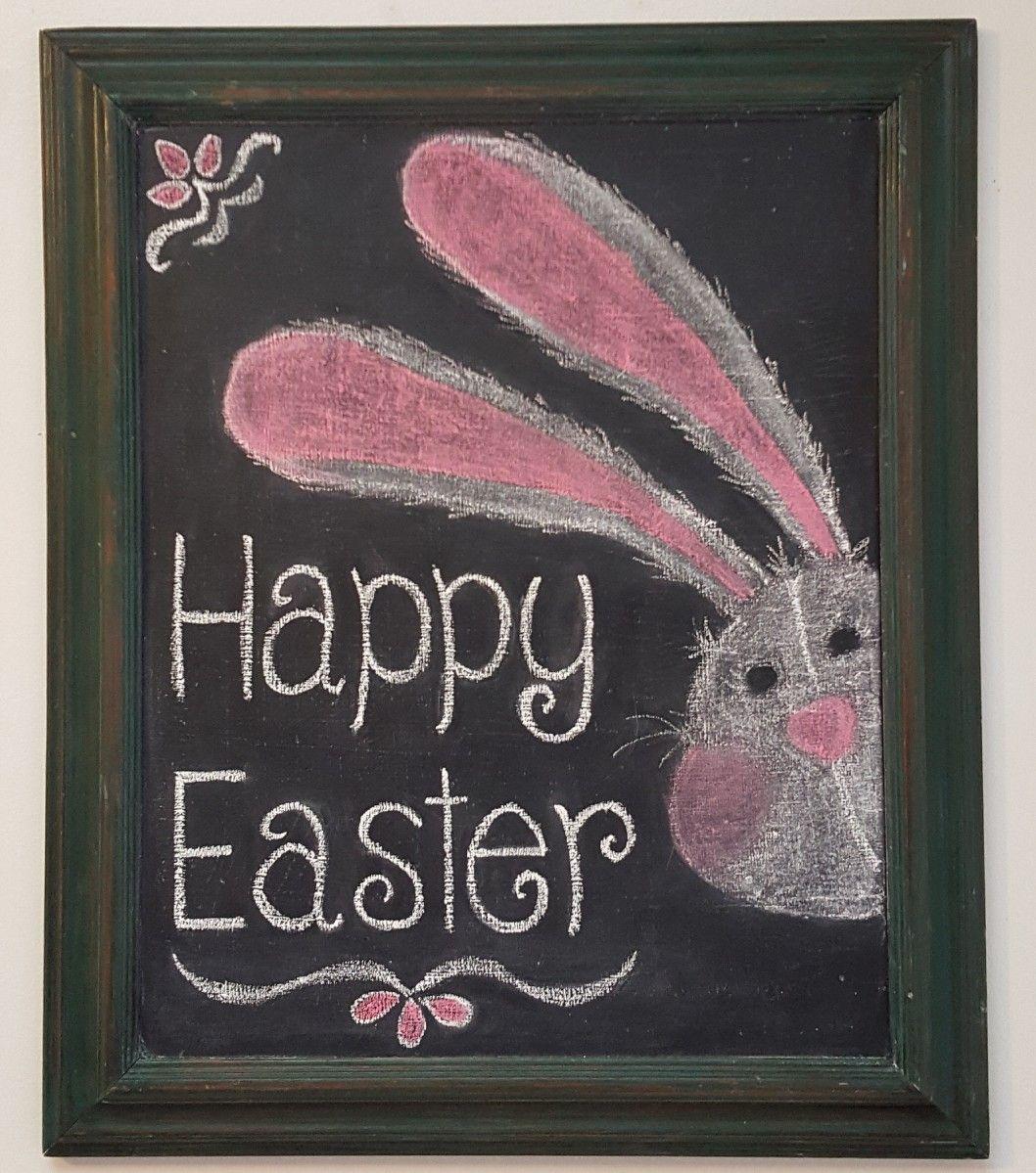 Easter Chalkboard 2018 Easter Chalkboard Art Easter Chalkboard