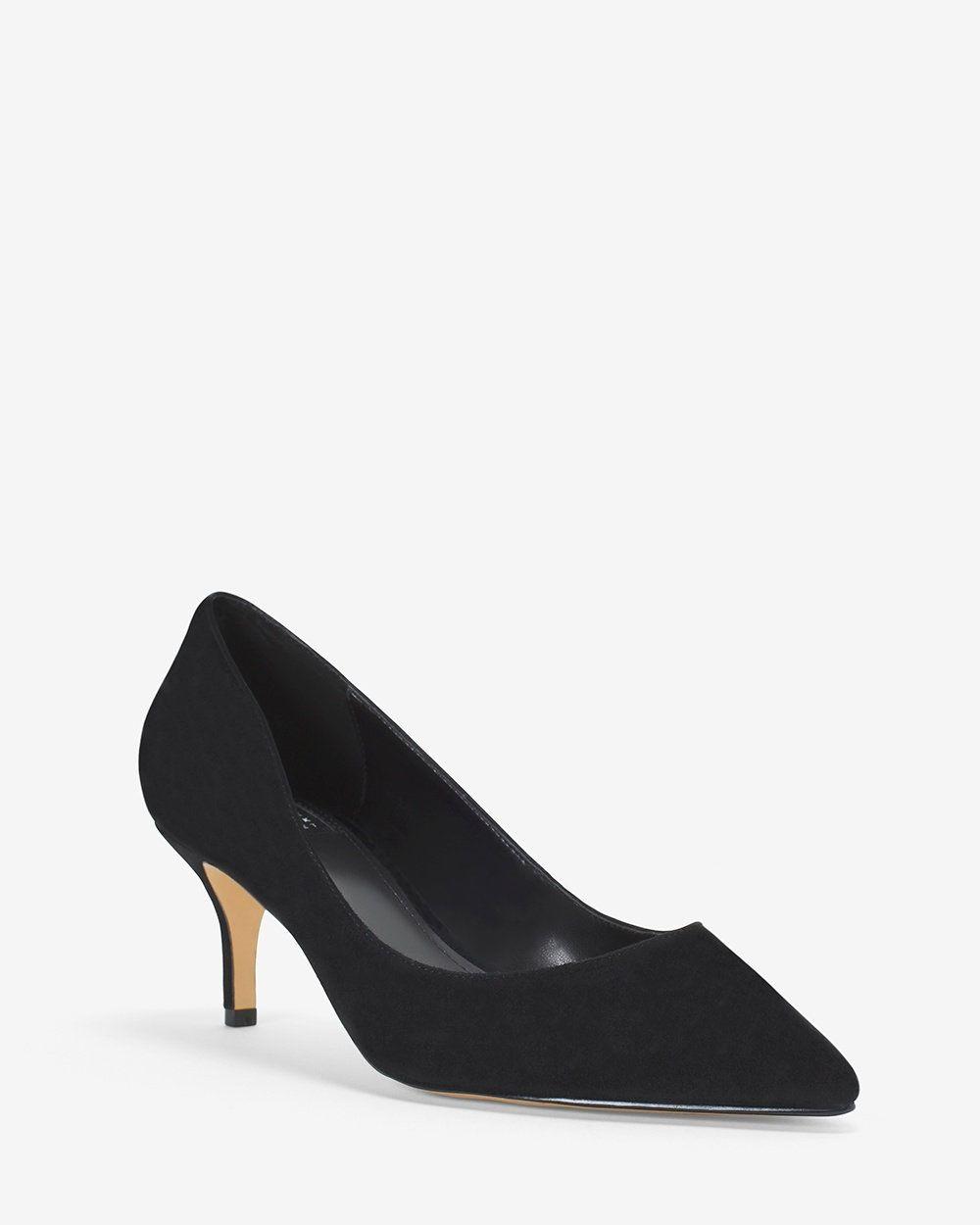 e3218b78bdd White House Black Market Phoebe Suede Kitten Heels