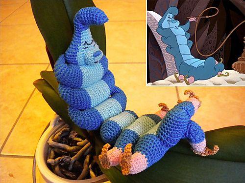 Amigurumi Caterpillar : Caterpillar alice in wonderland pattern by denise mazzini alice