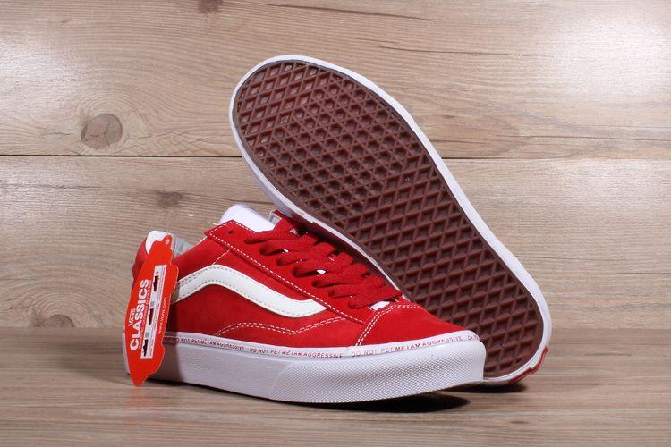 5020d426523 2018 Legit Cheap Unisex OFF WHITE x Vans Old Skool Willy Red White Skateboard  Shoe