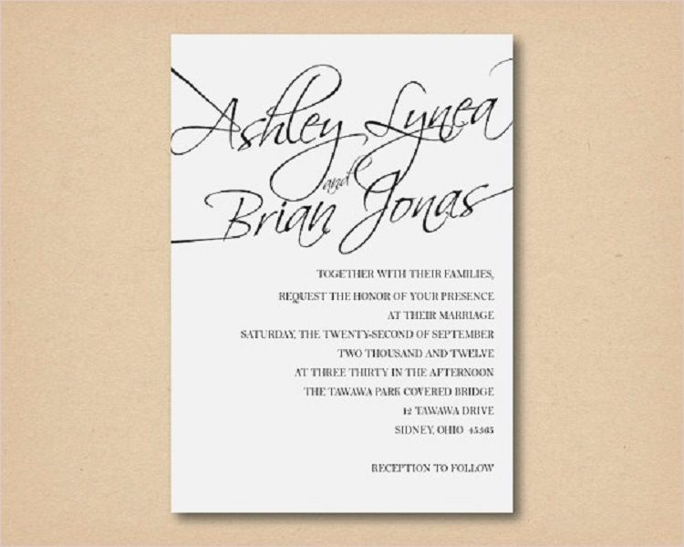 wedding invitations formal attire