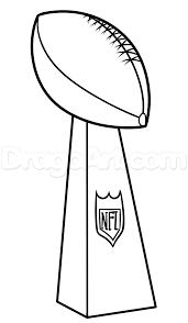 Super Bowl Trophy Coloring Pages Super Bowl Trophy Super Bowl 50 Super Bowl