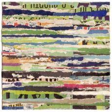 """Synesthesia – 5, 7"""" x 7"""" salvaged paper, lisa hochstein"""
