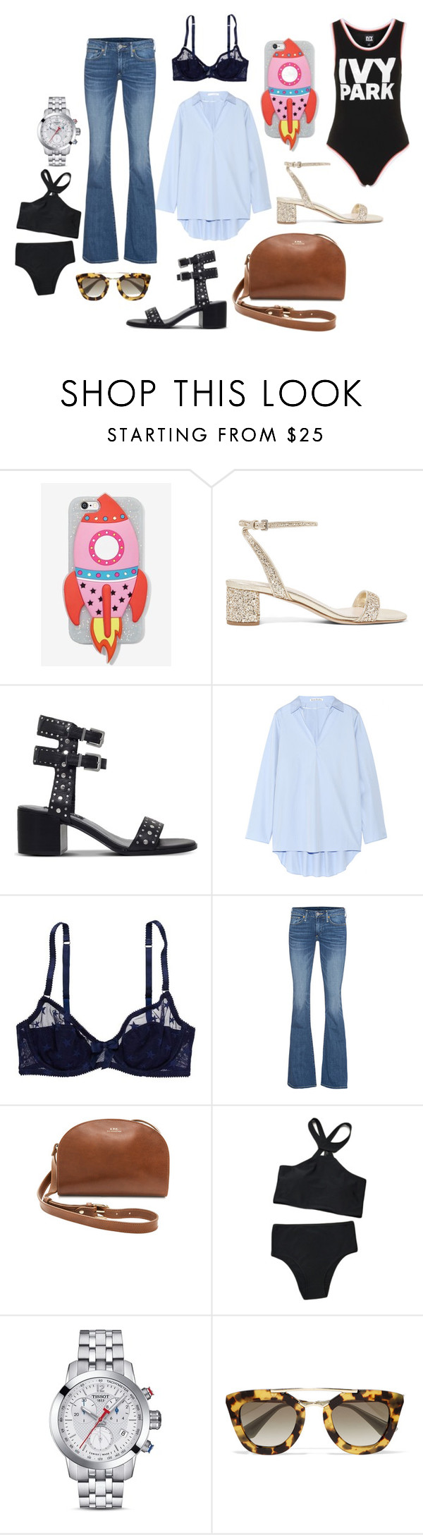 """""""May"""" by malou-malou ❤ liked on Polyvore featuring Skinnydip, Miu Miu, Senso, Acne Studios, American Eagle Outfitters, True Religion, A.P.C., Tissot, Prada and Ivy Park"""