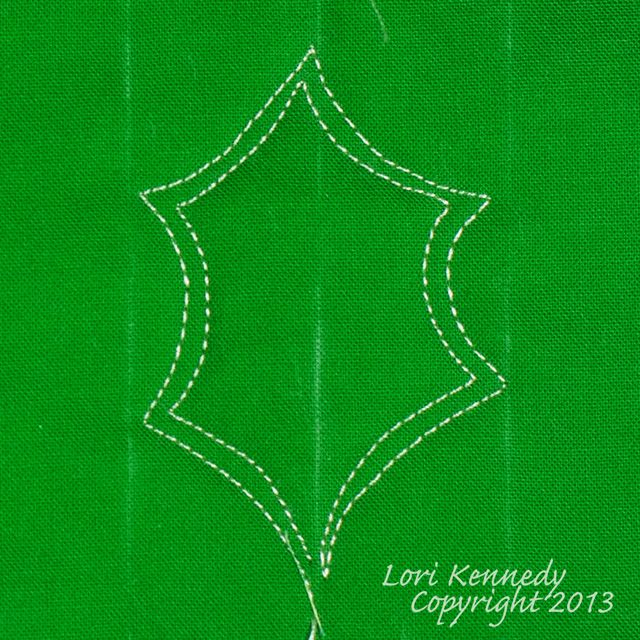 The Holly Leaf-A Free Motion Quilting Tutorial