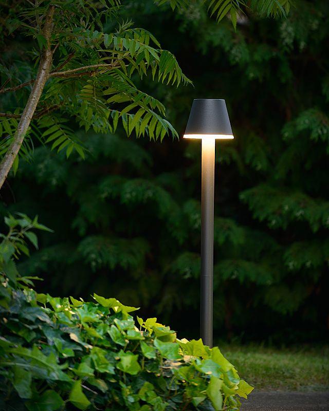 Lampadaire extérieur abat-jour - Lampe Josy LED IP44 H100 cm - Noir