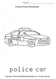 police-car-trace | Community Helpers | Pinterest ...