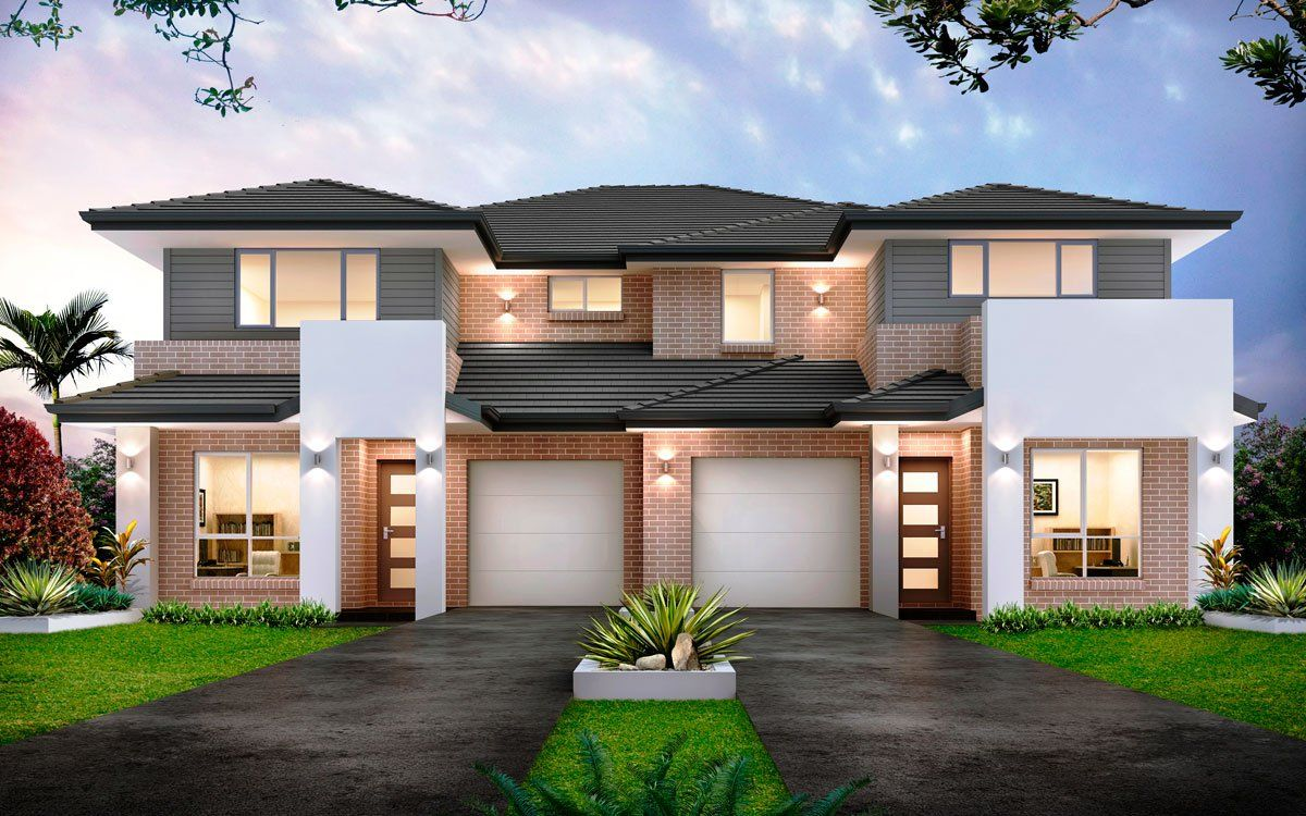 Forest glen 50 5 duplex level by kurmond homes new home builders sydney nsw duplex Modern townhouse plans