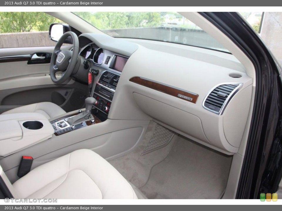Cardamom Beige Interior Dashboard for the 2013 Audi Q7 3.0 TDI ...