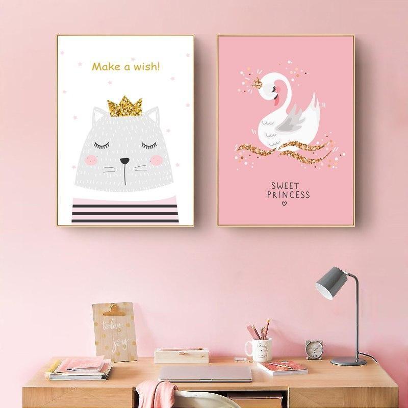 Nursery wall print Pineapple wall print,Girls wall print Home decor wall print