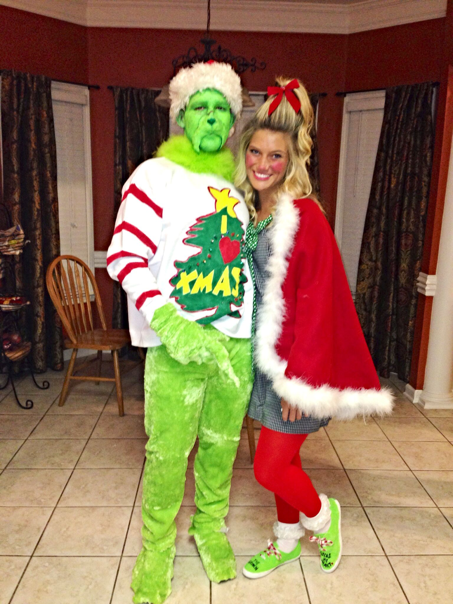 DIY Grinch and Cindy Lou Who so cute!  sc 1 st  Pinterest & DIY Grinch and Cindy Lou Who so cute! | CHRiSTMAS ? | Pinterest ...