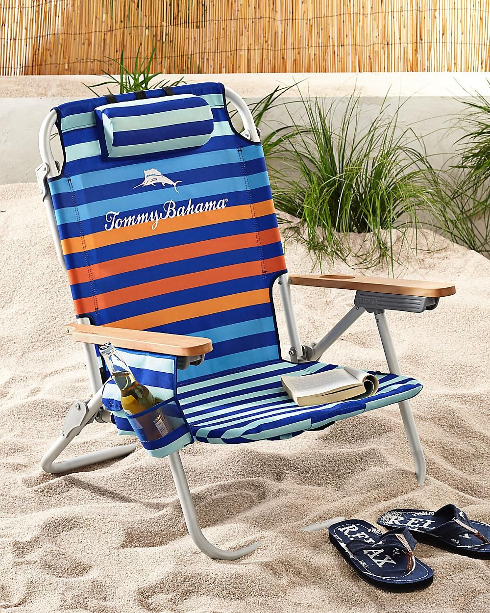 Seaport Stripe Deluxe Backpack Beach Chair Backpack