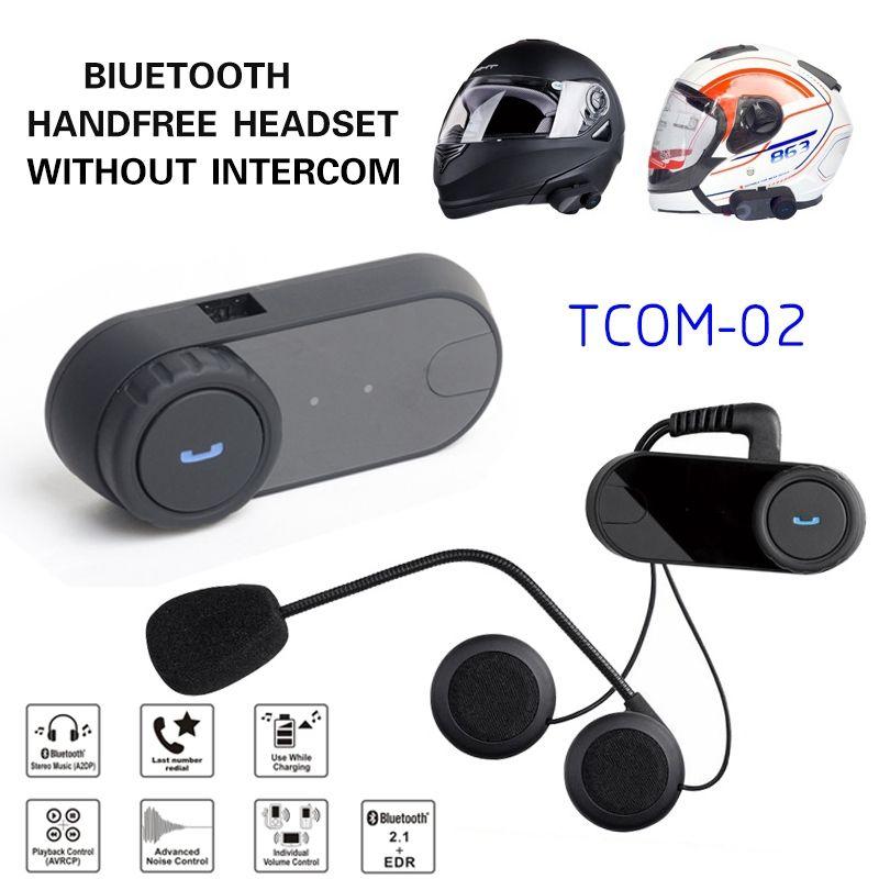 53abdef2e3f satın almak Sıcak Satış Motosiklet Kask Bluetooth Kulaklık Kablosuz Moto  Kasko Kulaklık Kontrolü Için MP3/4 Radyo iPod Freedconn TCOM-02