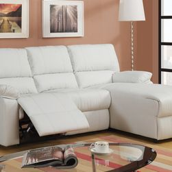 Recliner Loveseats For Small Spaces Small Cream Leather Reclining Sectional Sofa Set Recline With Images Sectional Sofa With Recliner Sectional Sofa Sectional Sofa Couch