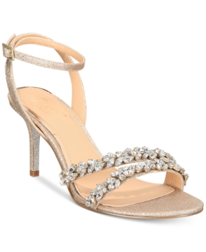 11ce1c5308d3 Jewel Badgley Mischka Jarrell Embellished Evening Sandals - Gold 5.5M