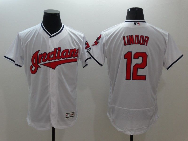 Indians  12 Francisco Lindor White Flexbase Authentic Collection Stitched  MLB Jersey fc113dc3d