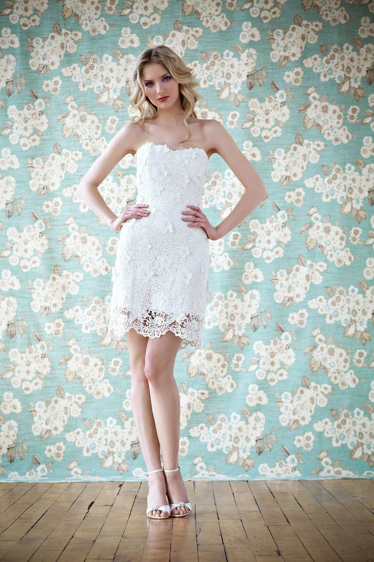 2014 Bridal Dresses | Short Lace Wedding Dress by Anais Anette ...