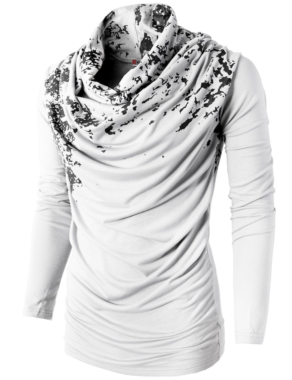 Black t shirt amazon - H2h Mens Unique Slim Fit Fashionable Designed Shirring Long Sleeve T Shirts Amazon