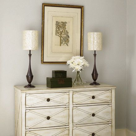 dresser Our first instinct may be to cover flat surfaces with ...