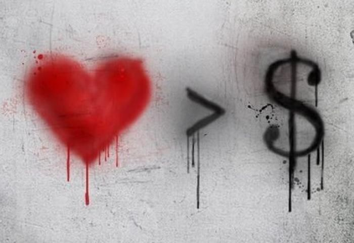 Banksy - Love is greater than money More