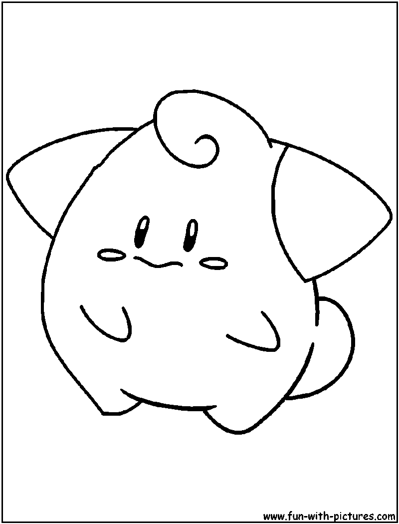 Cleffa Coloring Page | POKEMON | Pinterest | Pokemon coloring and ...
