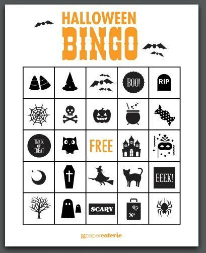 Free Halloween Printables- Bingo  Paper Bags Free halloween - free halloween decorations printable
