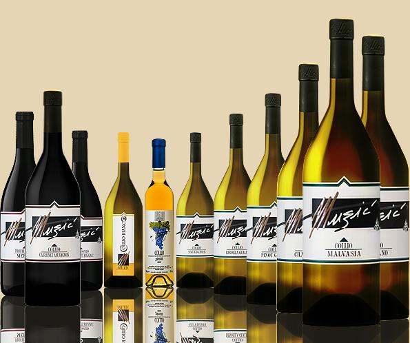 Vini Muzic | Bottiglie di vino, Vino