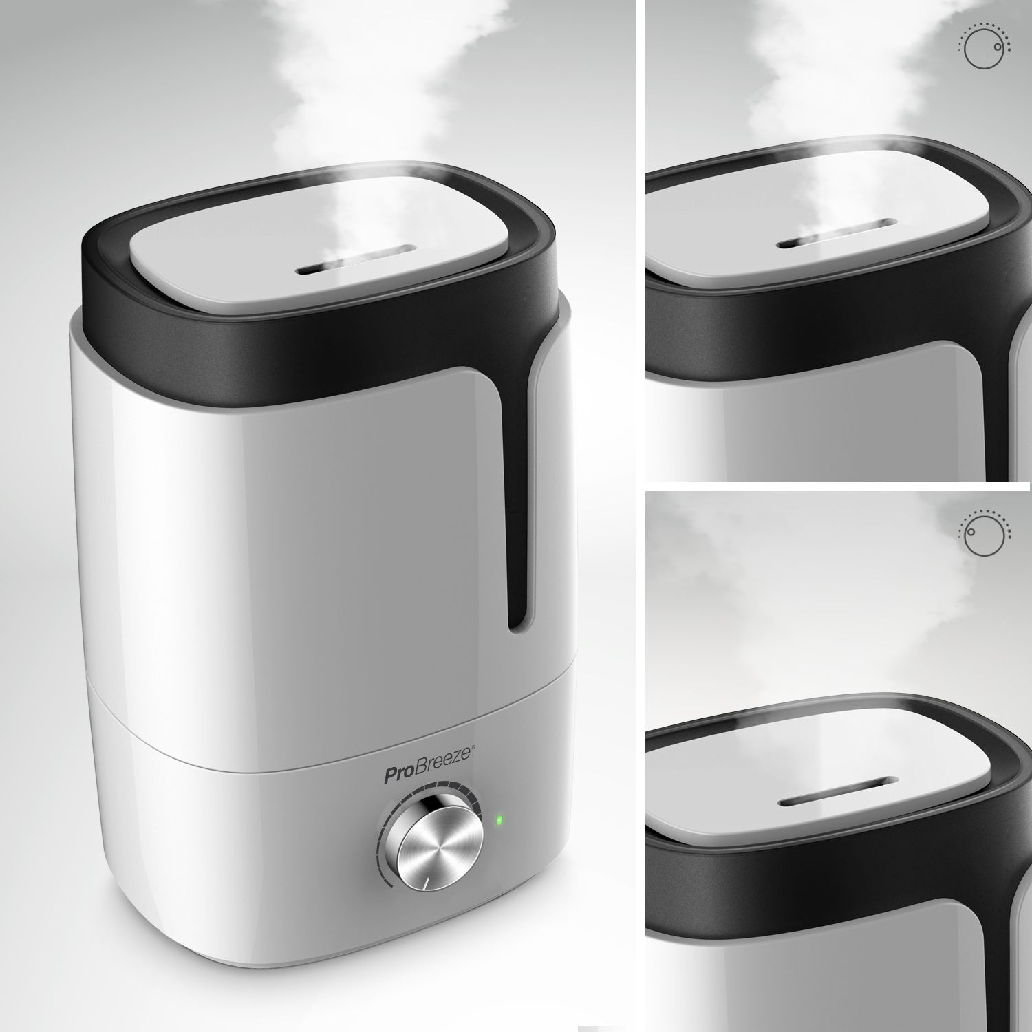This large 3.5 Litre humidifier from Pro Breeze instantly