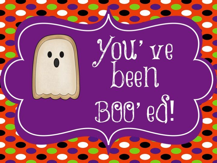 Boo Grams- You\u0027ve Been Boo\u0027ed! Great activity to get the staff in