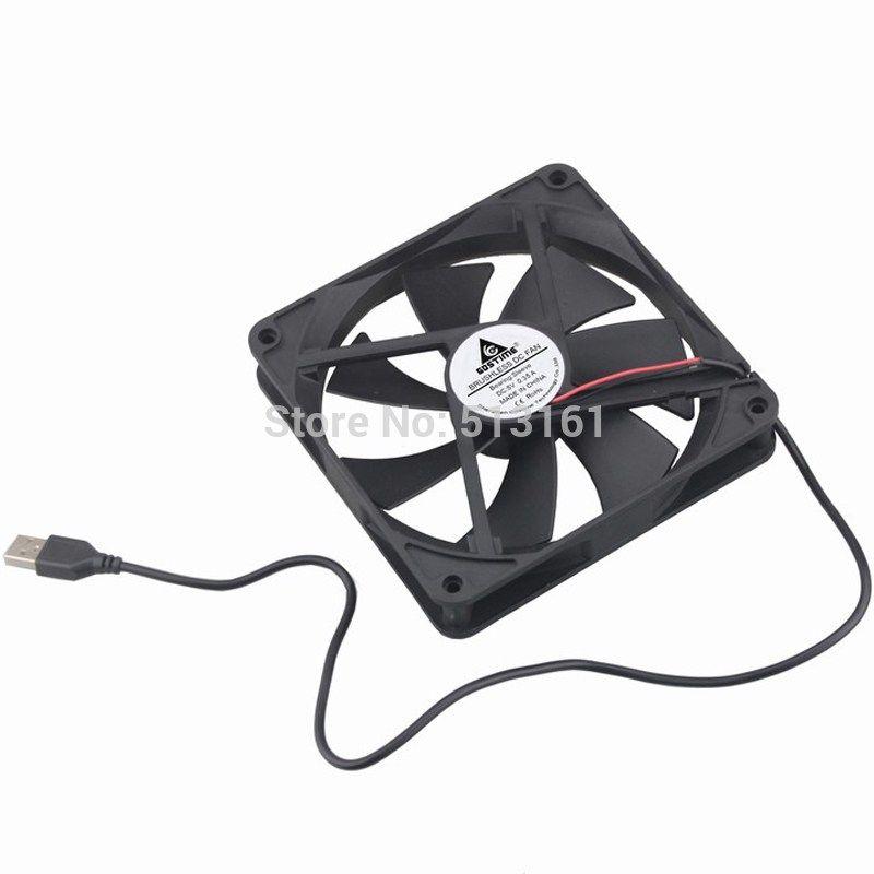 20pcs Gdstime Silent Quiet 140mm Usb Cooling Fan 5v 140x140x25mm