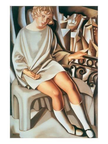 Premium Giclee Print: Kizette au Balcon by Tamara de Lempicka : 40x30in