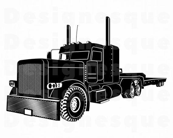 Semi Trailer Truck Svg Truck Svg Truck Clipart Truck Files Etsy Semi Trailer Truck Semi Trailer Trucks