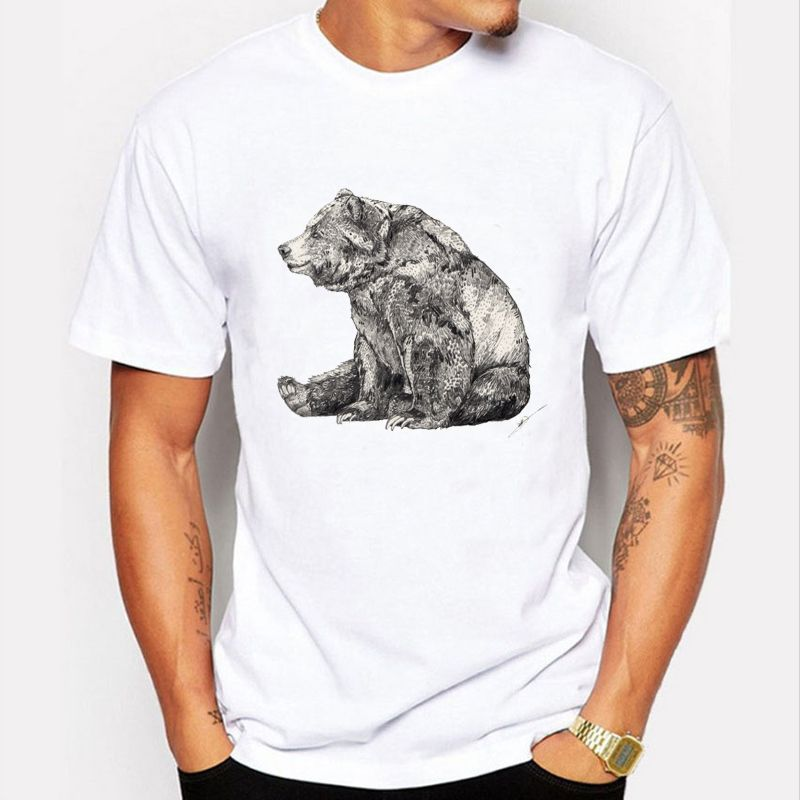 New 2017 Fashion Elephant Prints T Shirt Men Funny Animal Design ...