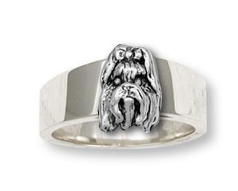 Shih Tzu Ring Handmade Silver Shih Tzu Jewelry Sh3 R Shihtzu Shih