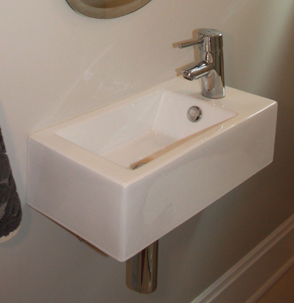 Furniture Simple Small Powder Room Sink Design With