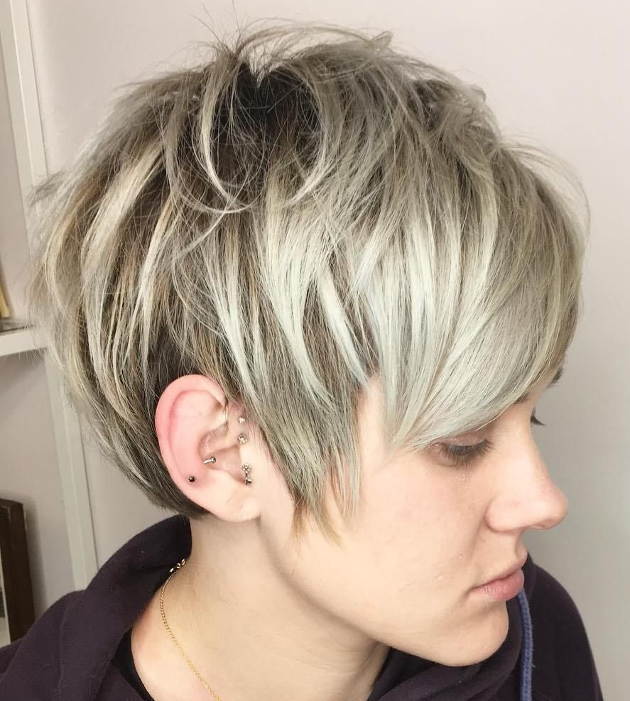 short shaggy spiky edgy pixie cuts and hairstyles fine hair