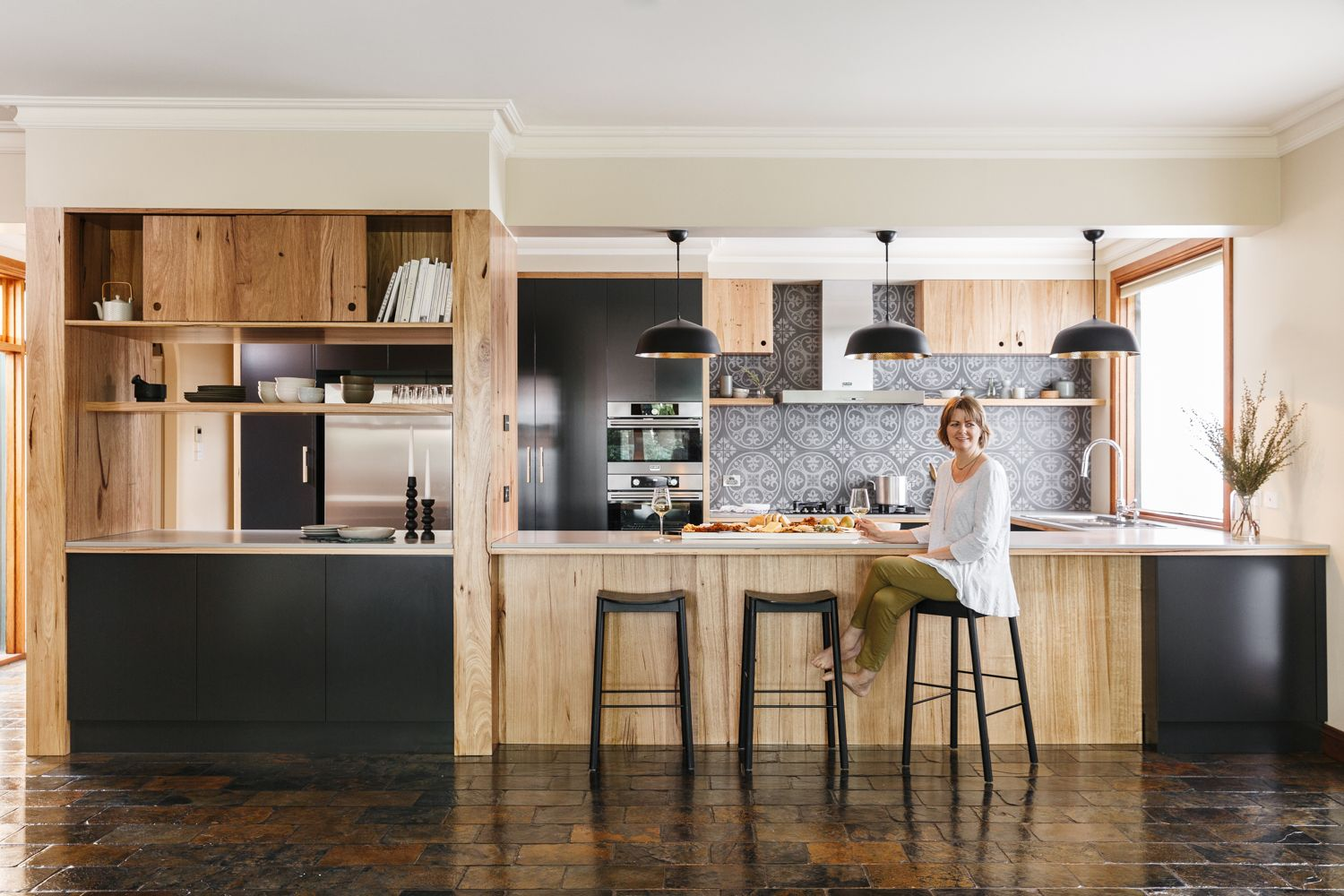 Modern Australian Kitchen With Warmth Of Timber And Earthy Tones
