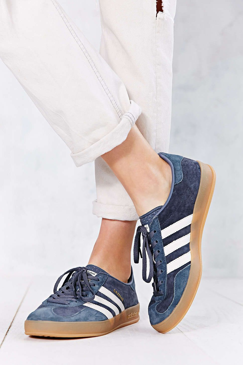 adidas Originals Gazelle Gum-Sole Indoor Sneaker