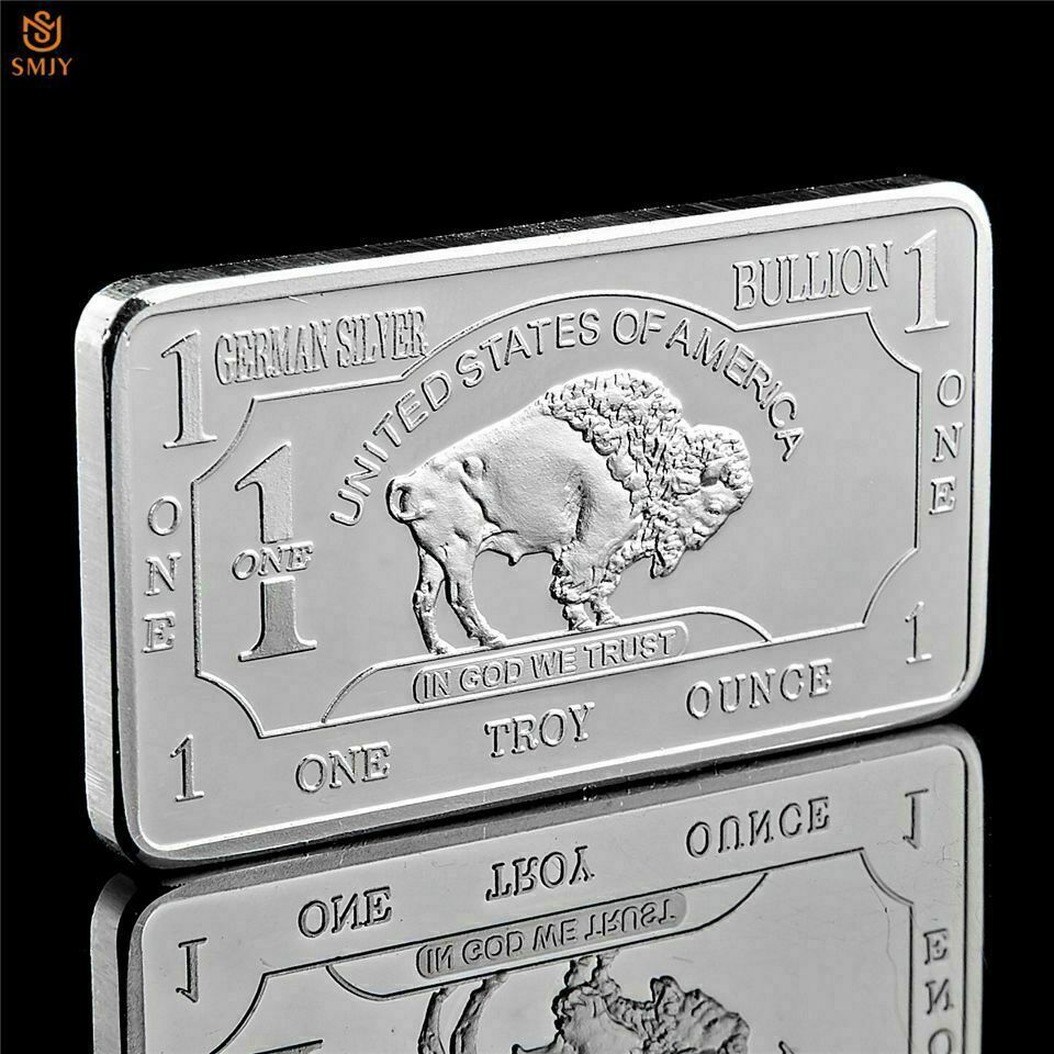 Bullion Germany Fine Silver 999 Mint 1 Troy Ounce Buffalo European Metal Bar In 2020 Bullion Fine Silver Troy