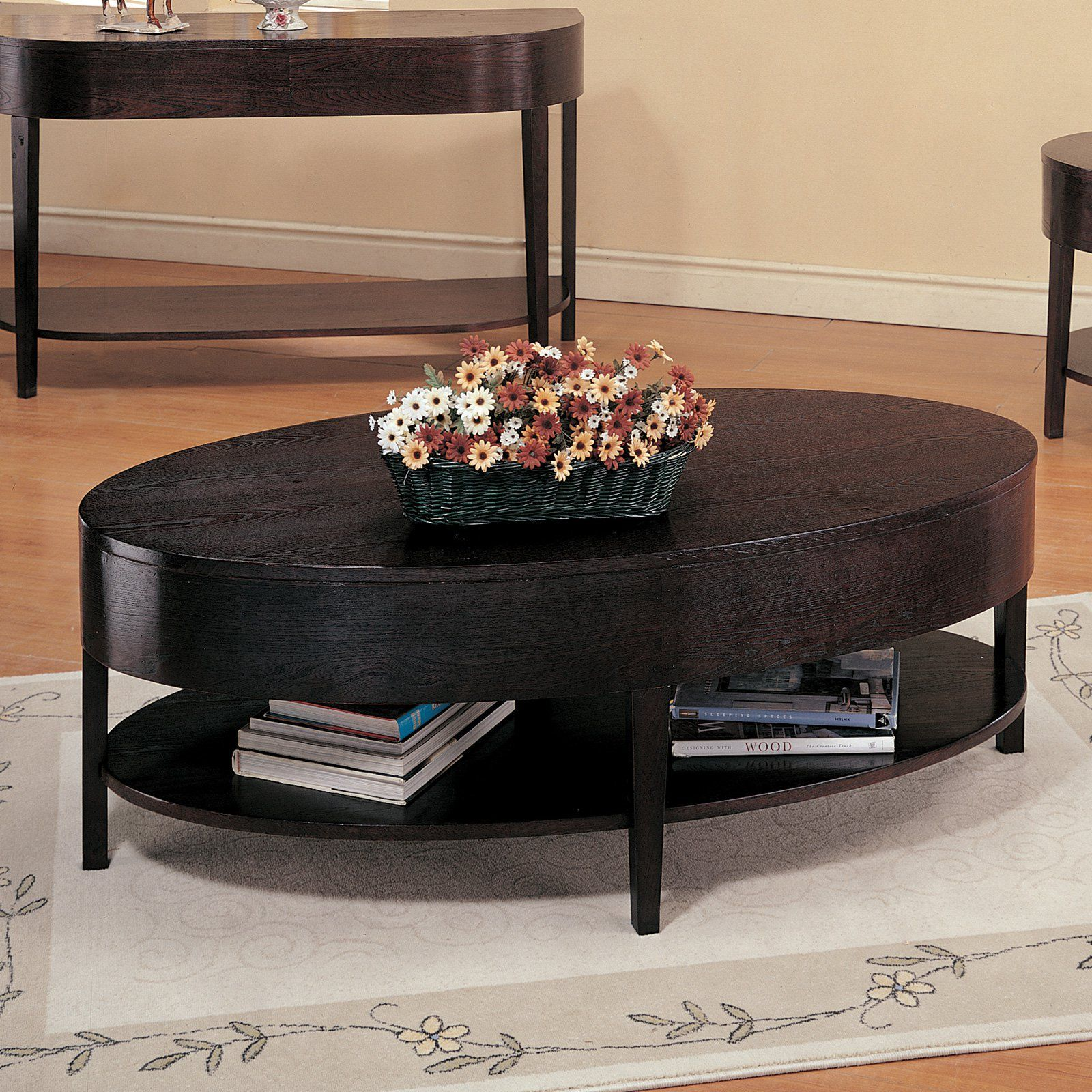 Oval Wooden Coffee Table With Tiny Drawers Oval Wood Coffee Table Oval Coffee Tables Coffee Table [ 900 x 900 Pixel ]
