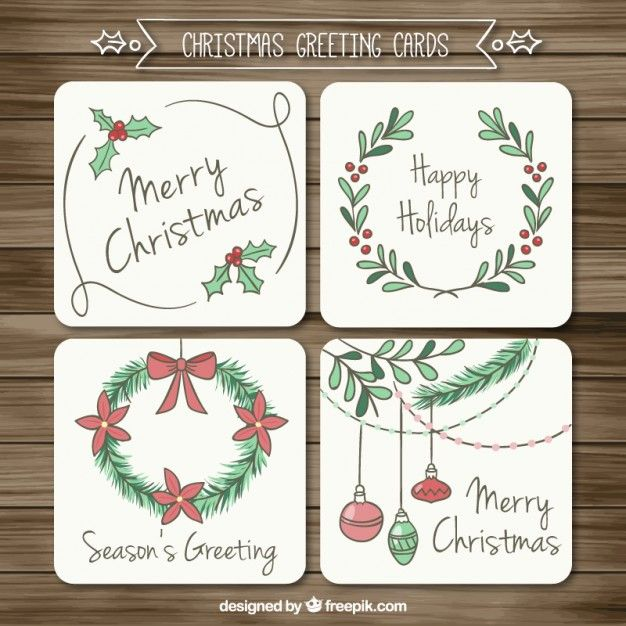 Download Sketchy Christmas Greeting Cards for free