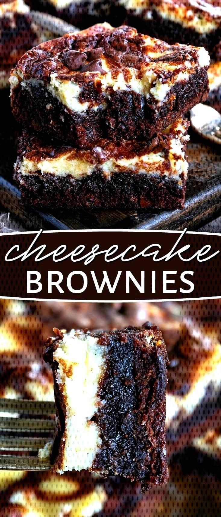 These Cheesecake Brownies are a mouth watering combination of two dessert favorites. Extra fudgy br