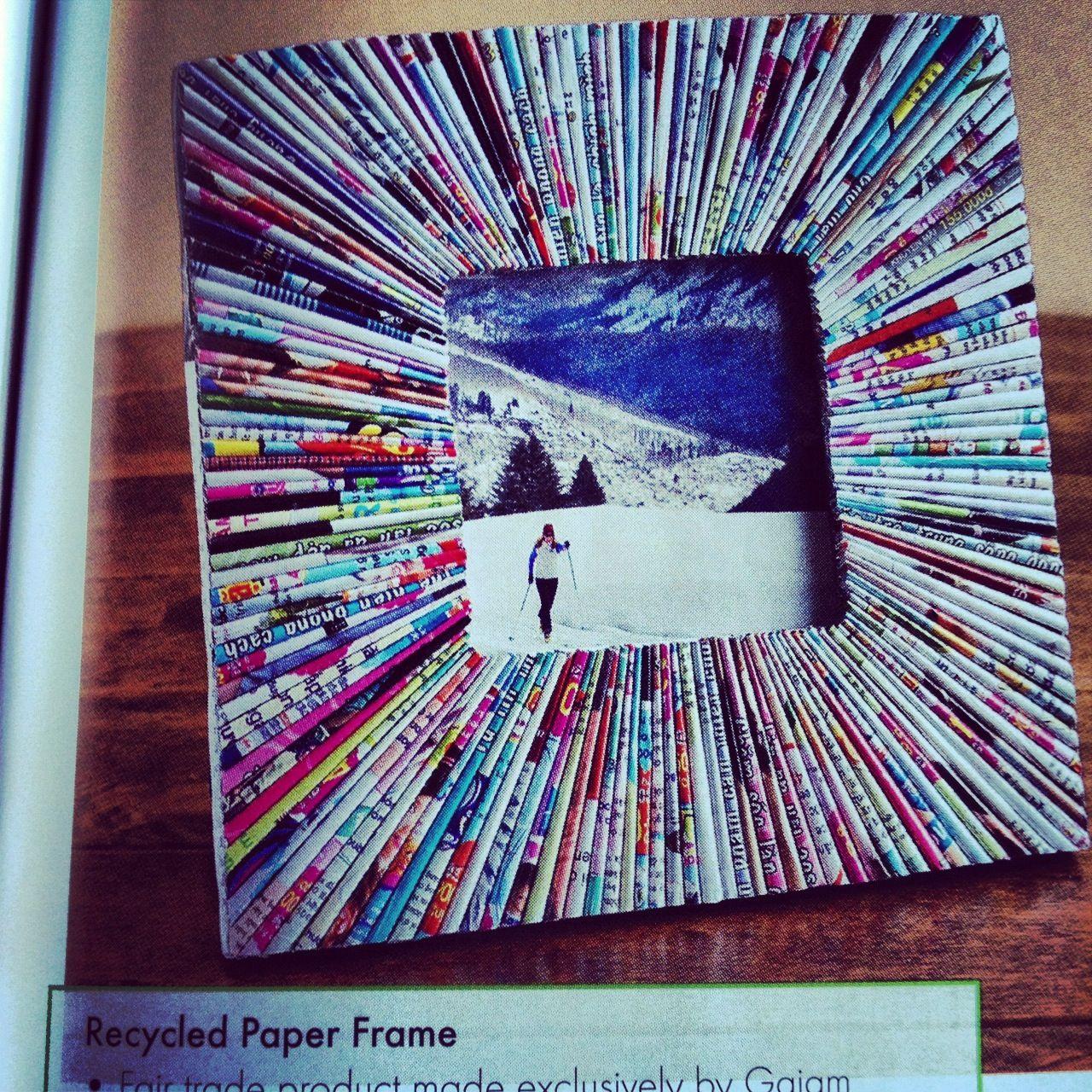 Magazine Paper Frame Diy Artesanatos De Papel Reciclados Arte