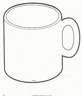 Mug Outline Coffee Mug Clipart Hot Chocolate Mug Coloring Page Mug Template Winter Crafts For Kids Hot Chocolate