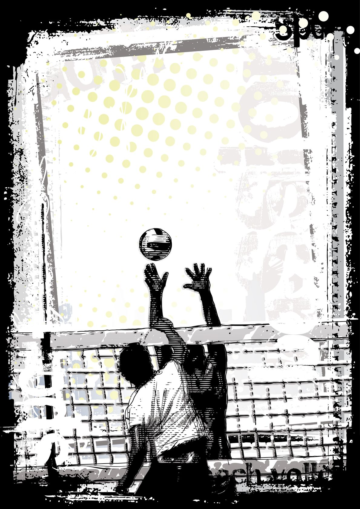 Beach Volleyball Poster Background Vector By Ranker666 Volleyball Posters Creative Poster Design Creative Posters
