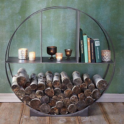iron circle log holder - Fireplace Log Holder
