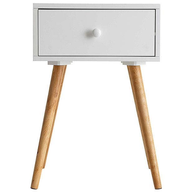 White Bedside Table side table with single drawer - white | target australia | places