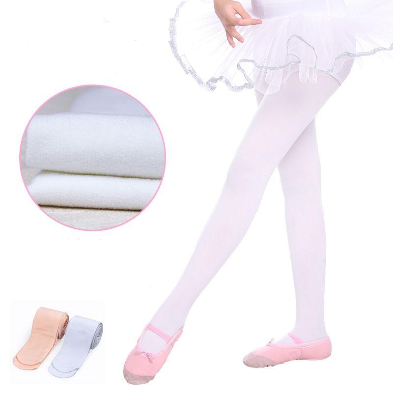 05d80909714cb Girls Kids Ballet Dance Pantyhose Thick Children Leggings Seamless Ballet  Tights White Pink