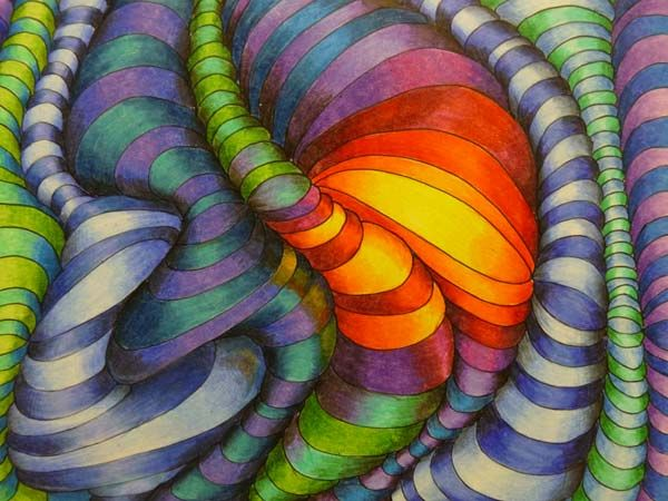 Color Design Art : Art optical design how fun easy is this working on one right