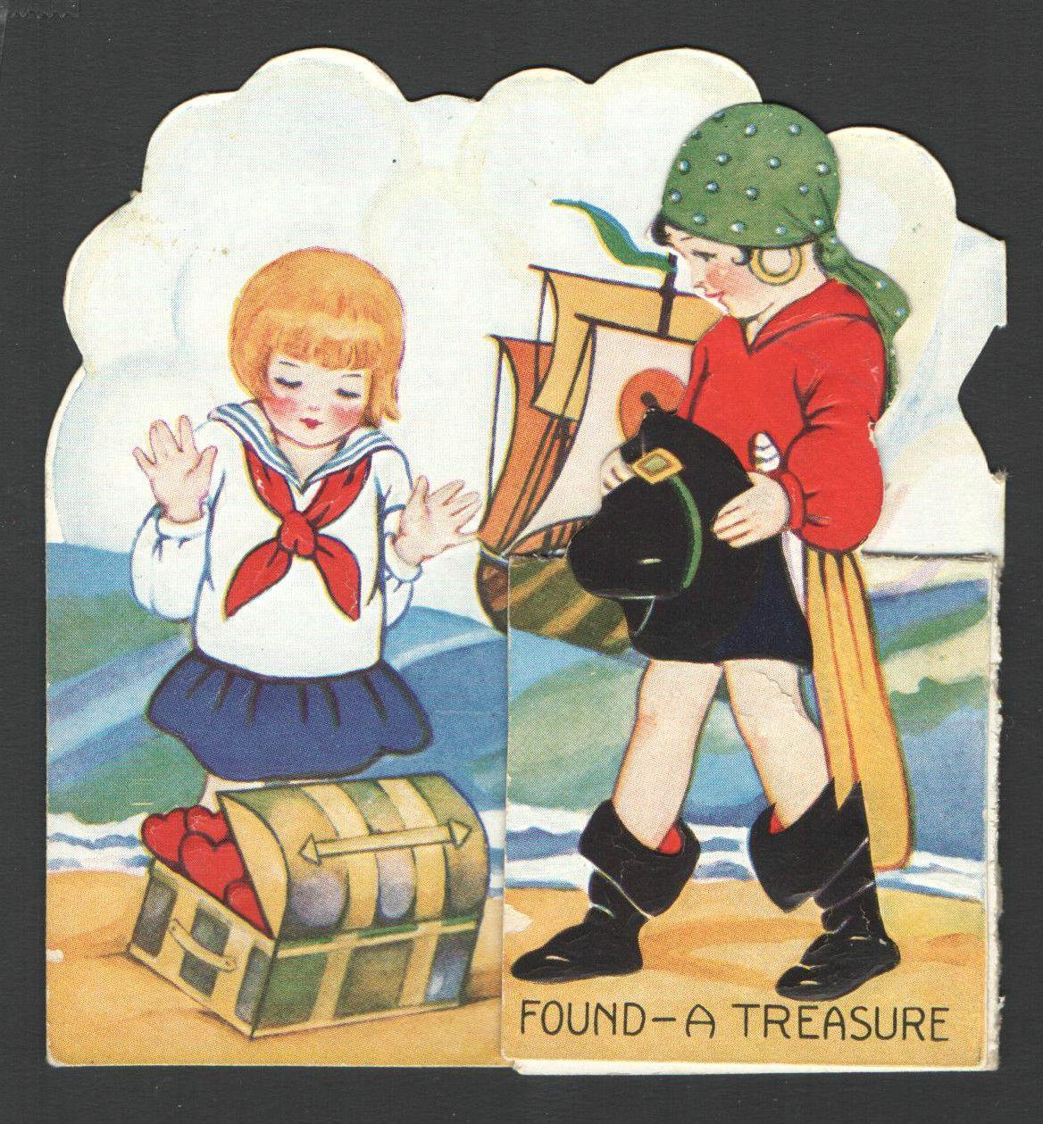 Child's Valentines Day Card 1931
